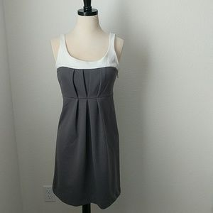 Pleated Versatile Simple Classic Grey White Dress